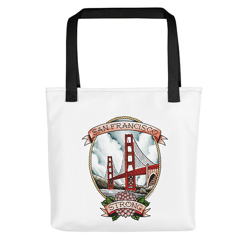 Full Color SF Strong Color Handle Tote Bag ( 2 Colors)