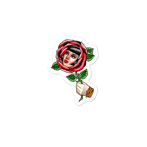 Rose Woman Stickers