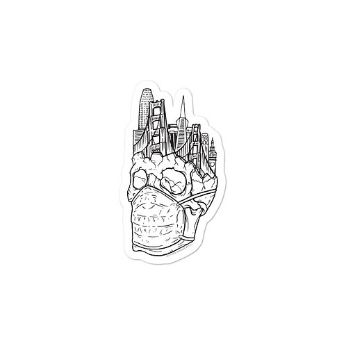 Quarantine Skull Sticker