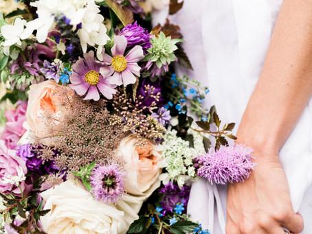 Purple Watercolor Wedding, Pomme
