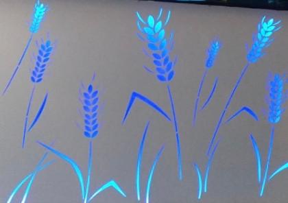 tôle laser thermolaquée plus éclairage LED