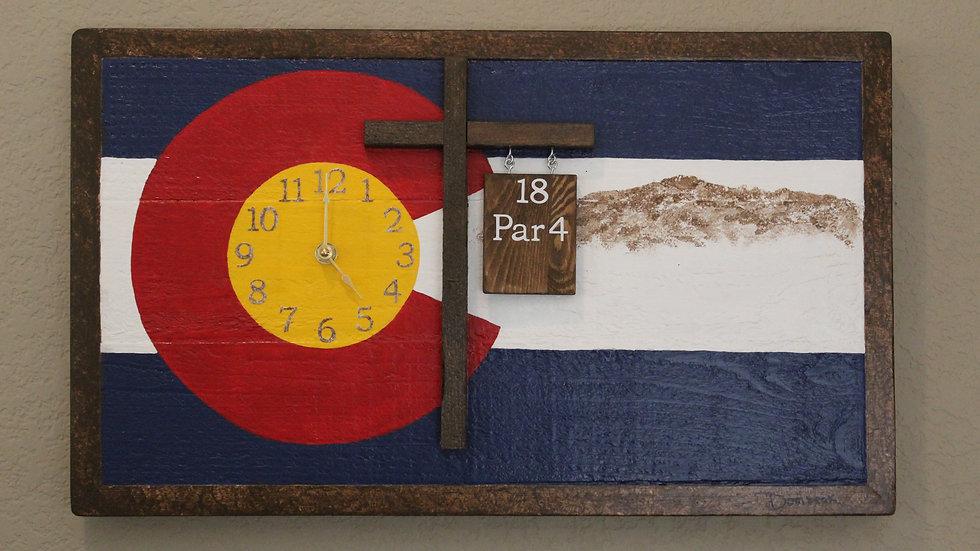 Colorado Flag Wall Art Clock