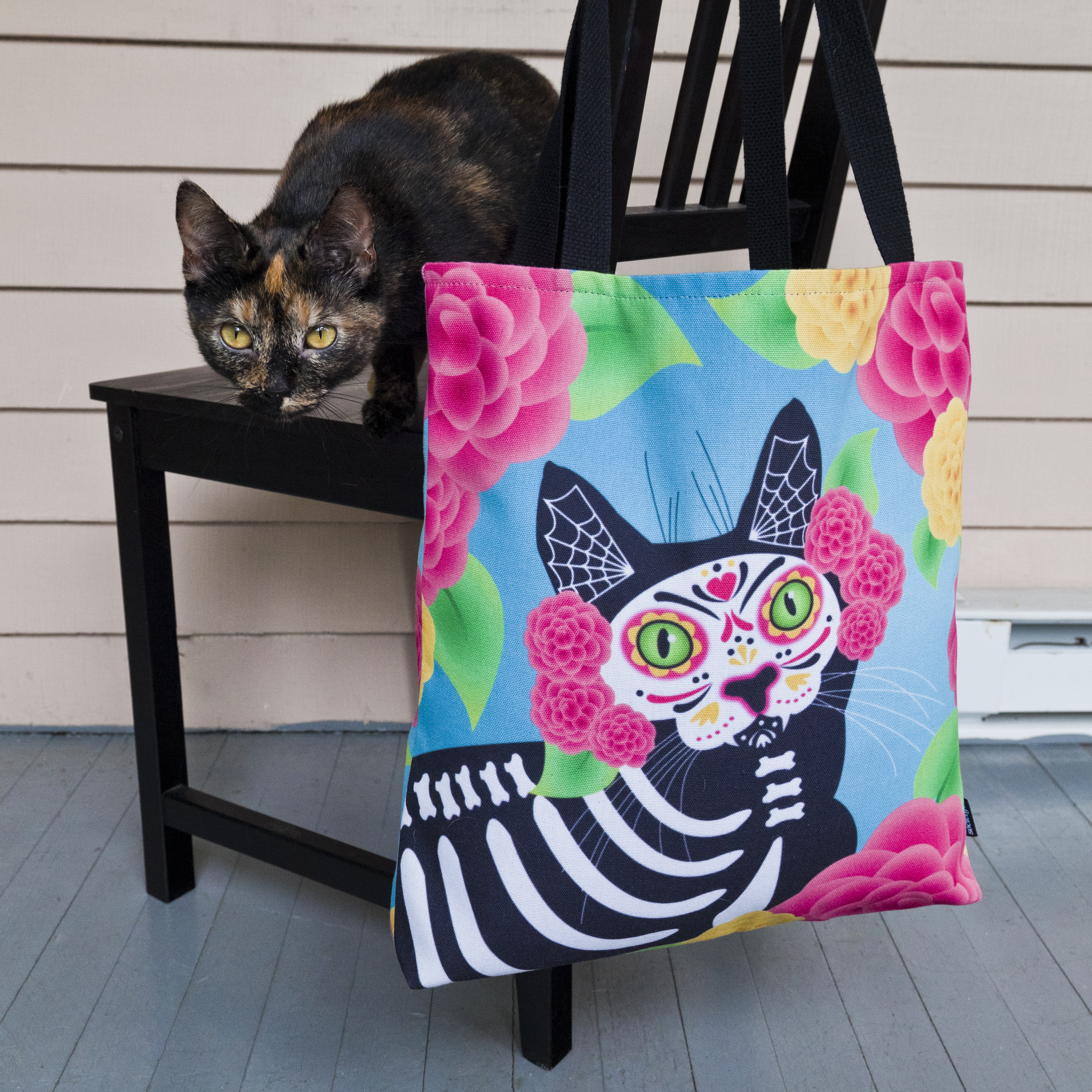 olive and rye day of the dead tote