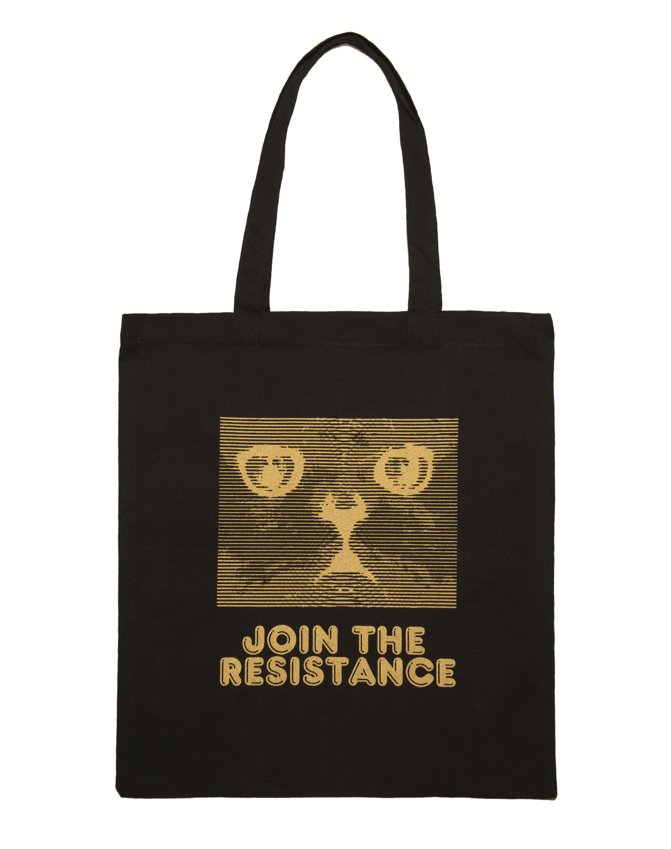 Join The Resistance Tote Black on White - Full Res Proof