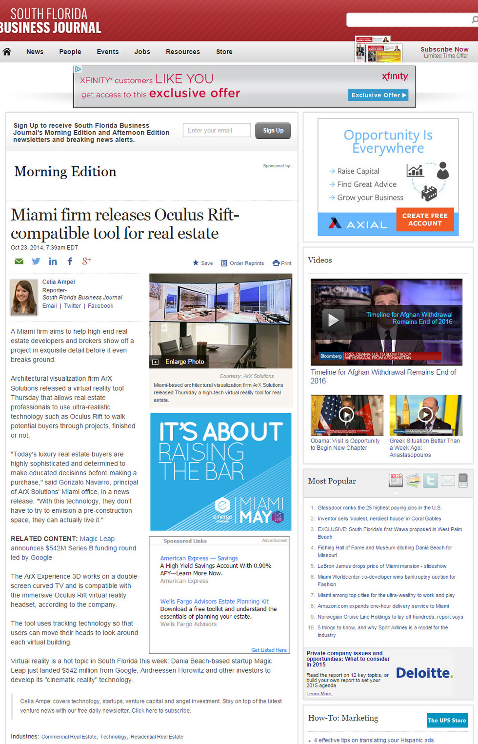 INTERVIEW: South Florida Business Journal interview ArX Solutions.