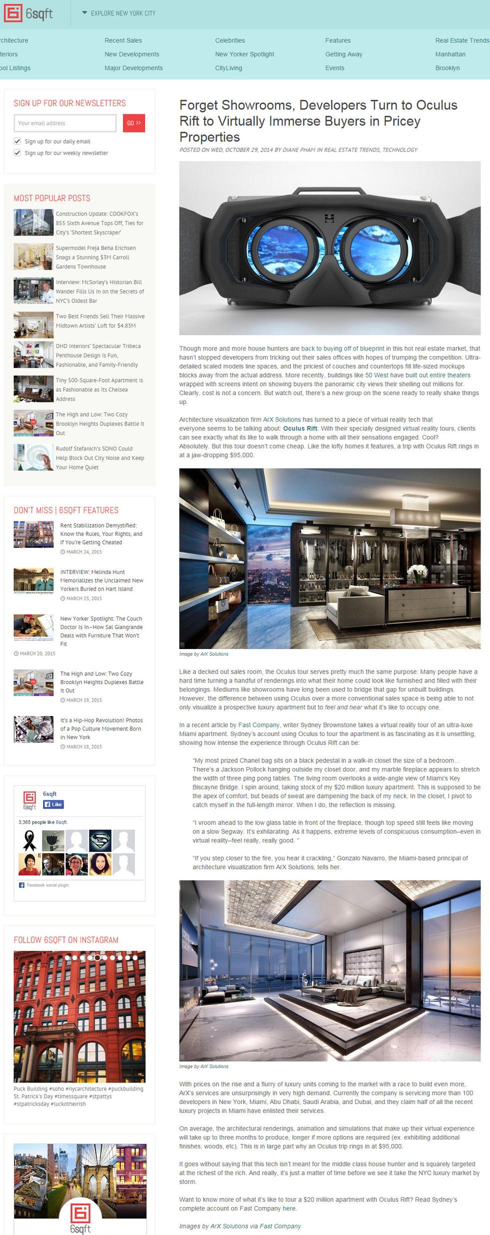 PRESS: ArX Solutions in 6sqft.com