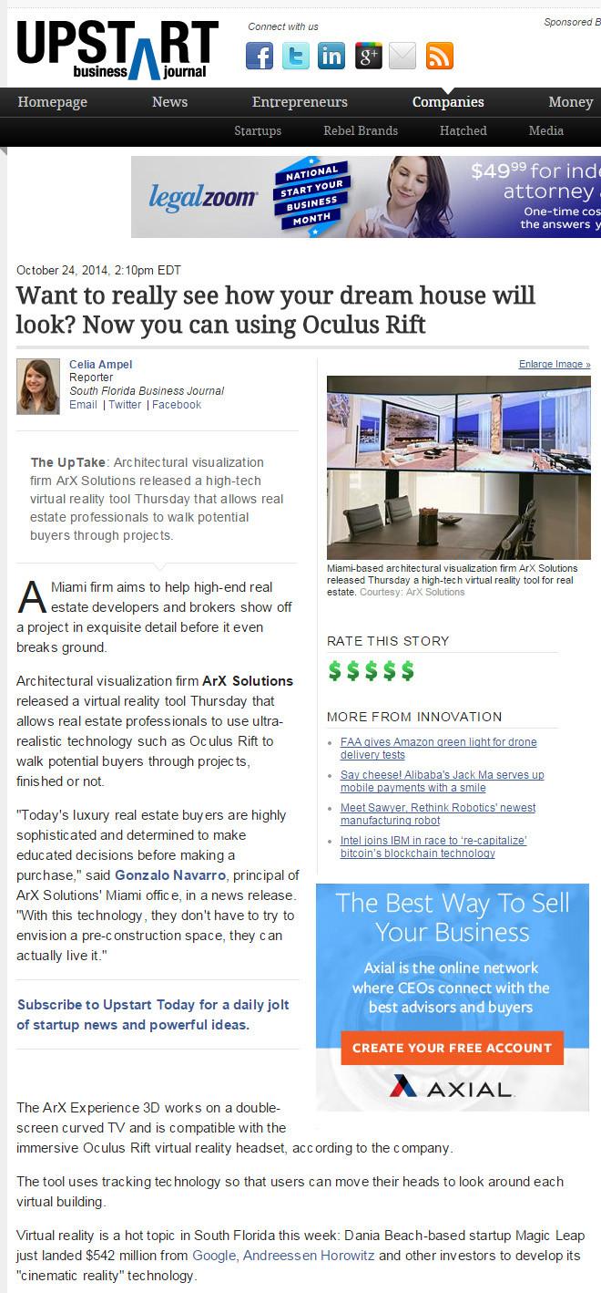 INTERVIEW: Upstart Business Journal interview ArX Solutions.