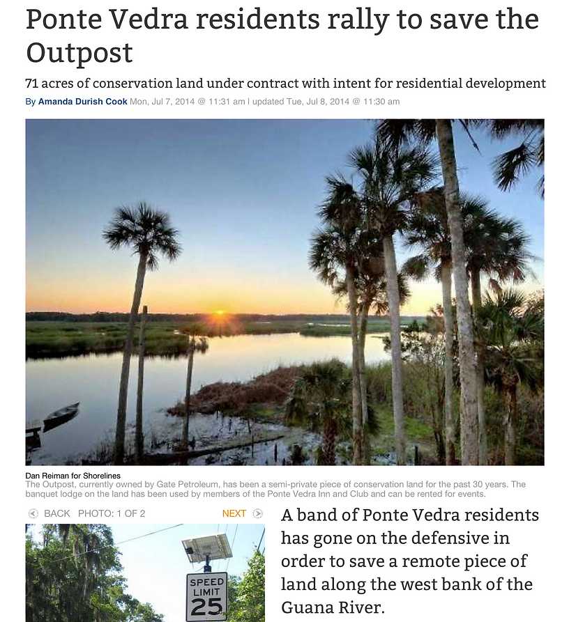 Opposition to developing Outpost in Ponte Vedra