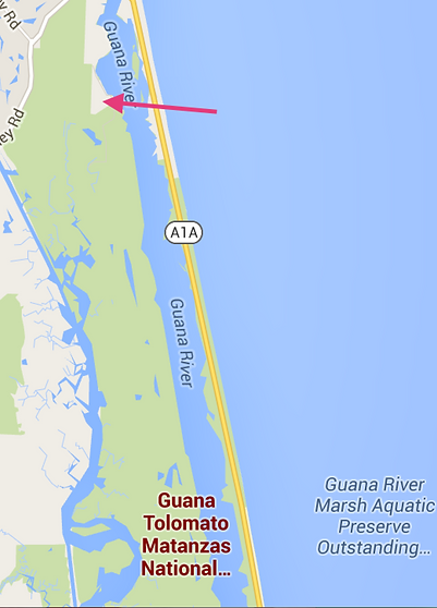 Map of Outpost in Guana River Marsh Aquatic Preserve