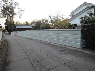 石塀の改修工事