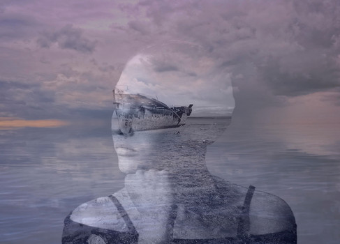 Lost in a sea of thought by Fairlie Atkinson