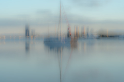 Sheltered in calm waters ICM by Judith Bear