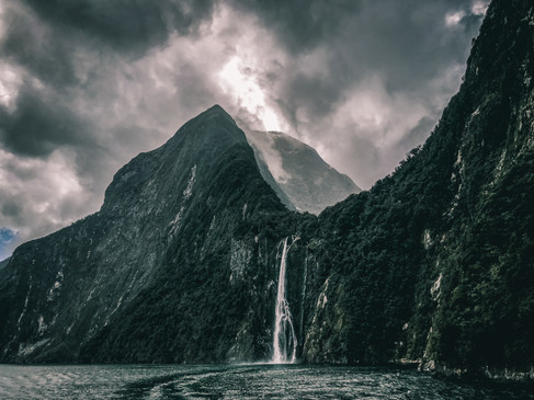 Milford Sound Waterfalls by Melyssa Forget-Turcotte