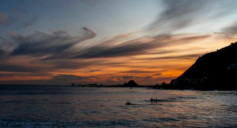Sunset Surfers by Lisa Yates Photographyotography