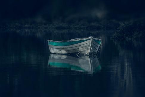 Blue Dinghy by Marina de Wit