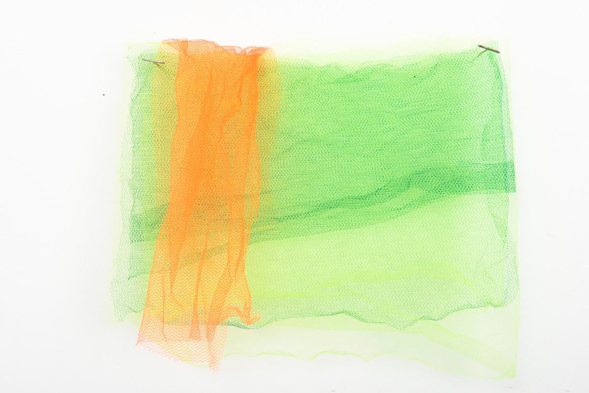 Verde, 2017. Sobreposição de tules, 32 x 32 cm