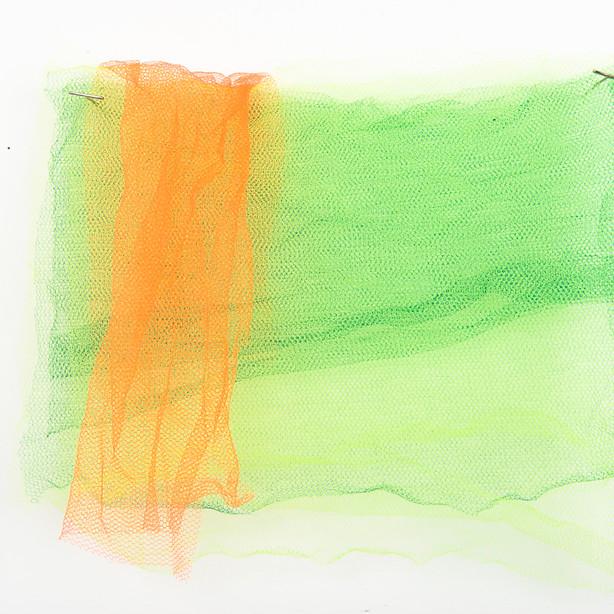 Verde, 2017. Sobreposição de tules. 32x32cm