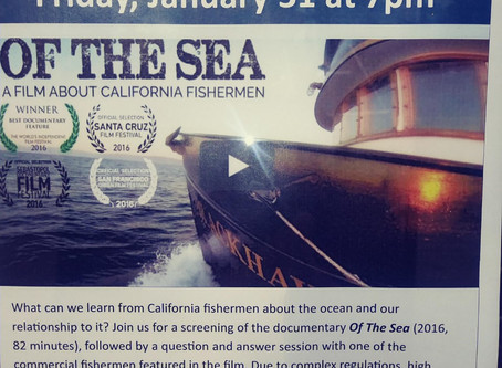 """Film Tonight, 7pm at Library """"Of the Sea""""and Latitude 38 Article on Sausalito's Working Waterfront!"""