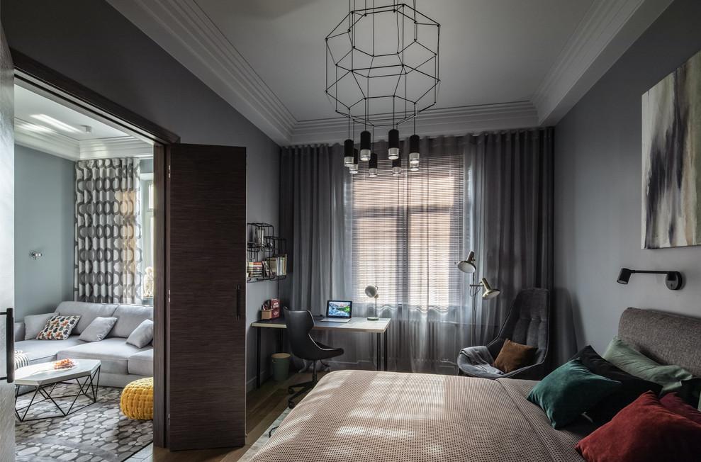 Вид на гостиную из спаль
