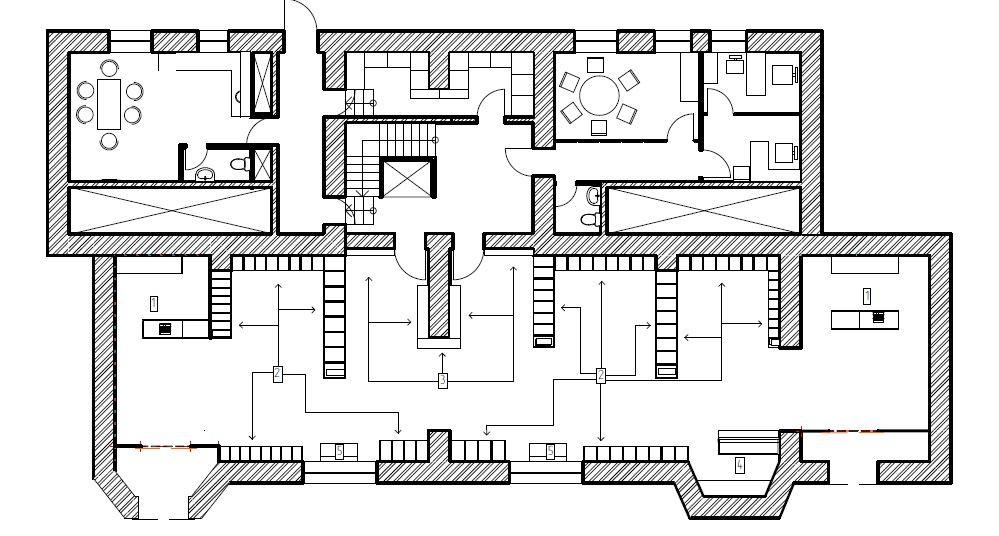 План мебели и торгового оборудования