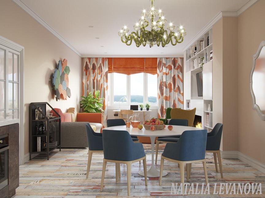 гостиная - зона столовой