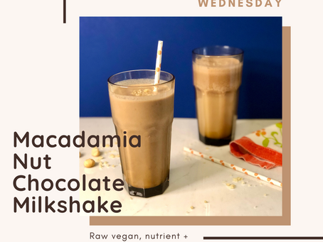 "Well•Being Wednesday: Chocolate Macadamia Nut ""Milk""Shake"