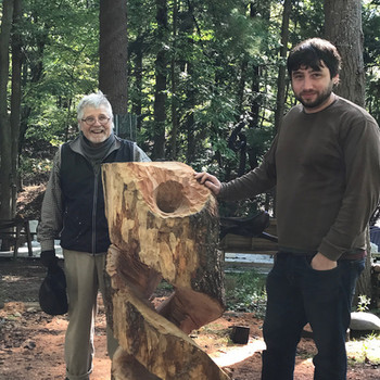 Jamie with Master Sculpture, Les Scruggs