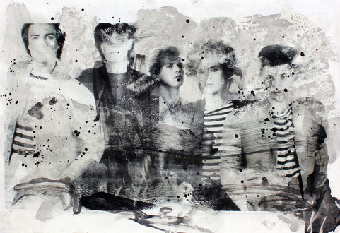 Duran duran   Ink dissolution and pigments cm 33x48 2019