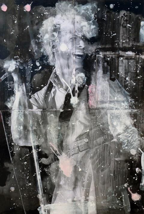 David Bowie Ink dissolution e pigments cm 92,5x61 2019