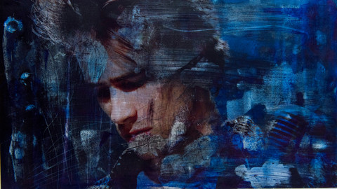 Jeff Buckley  Ink dissolution and pigments cm 26,5x47 2018