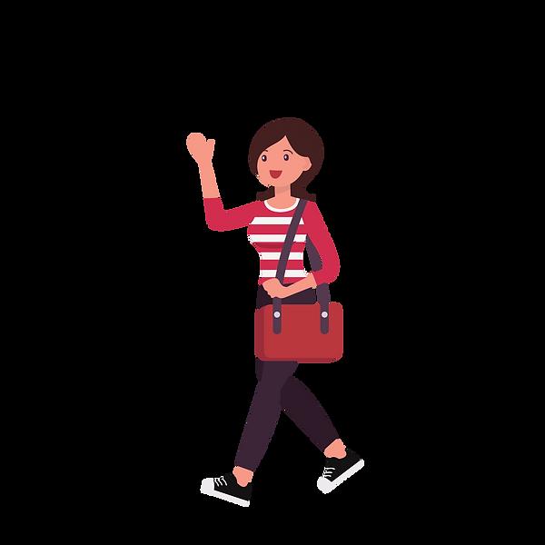A Girl On The Go Logo - Transparent Back