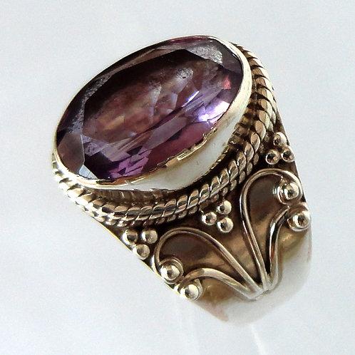 2080 Amethyst Ring 925 Sterling Silver
