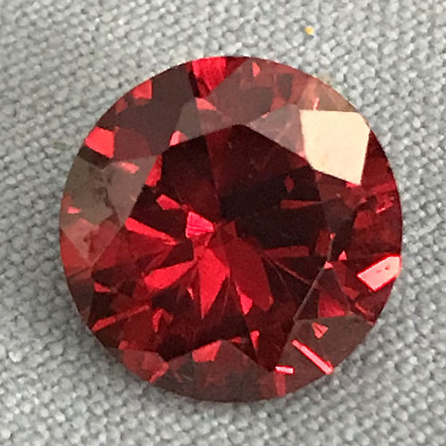Cubic Zircon Faceted Gemstone Round Garnet Color 3x3mm - 13x13mm