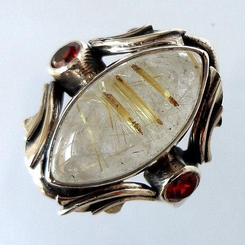 2044 Modern Silver Ring