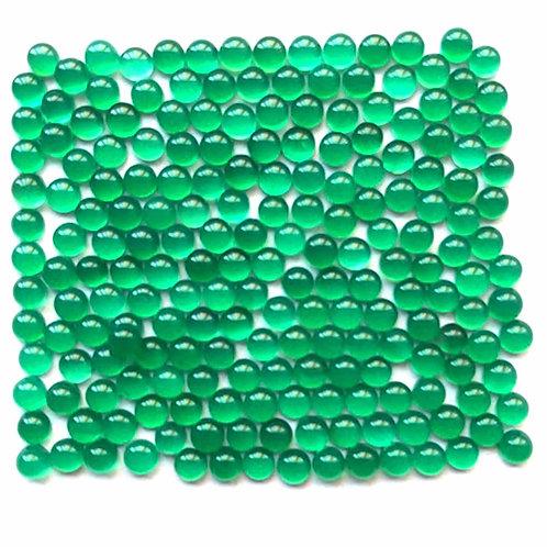 Green Onyx Cabochon Round 2 mm -15 mm