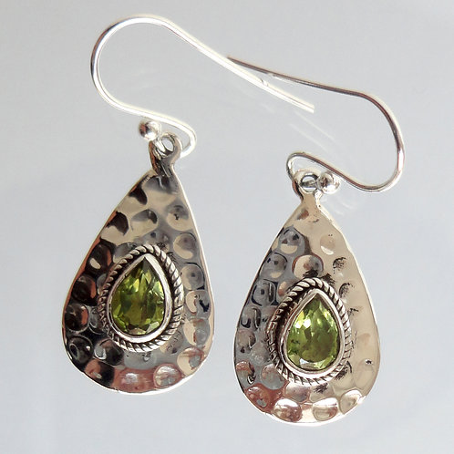 1024 Silver Earrings with Semi Precious Stones