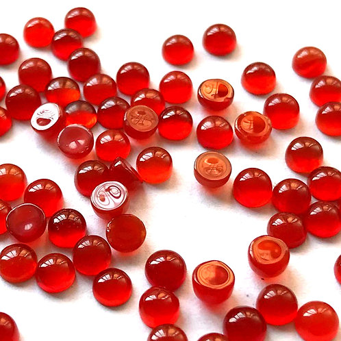 Red Onyx Cabochon Round 2 mm -15 mm