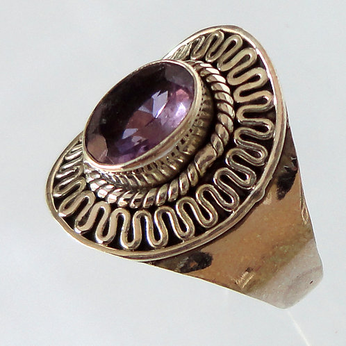 2077 Purple Amethyst Ring