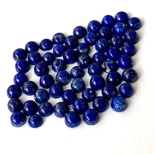 Lapis Lazuli Cabochon 3 mm Round 20 Pcs Lot