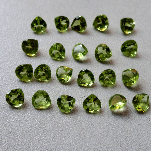 Peridot Heart Faceted Calibrated Gemstone