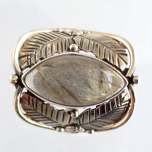 2037 Silver Leaf Ring