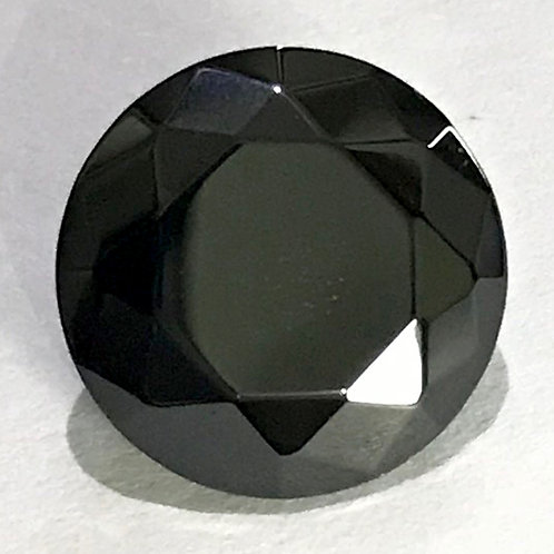 Cubic Zircon Faceted Gemstone Round Black Color 3x3mm - 15x15mm