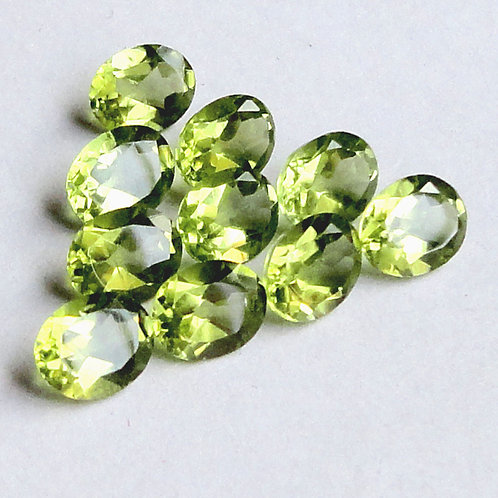 Peridot Oval Faceted Calibrated Gemstone