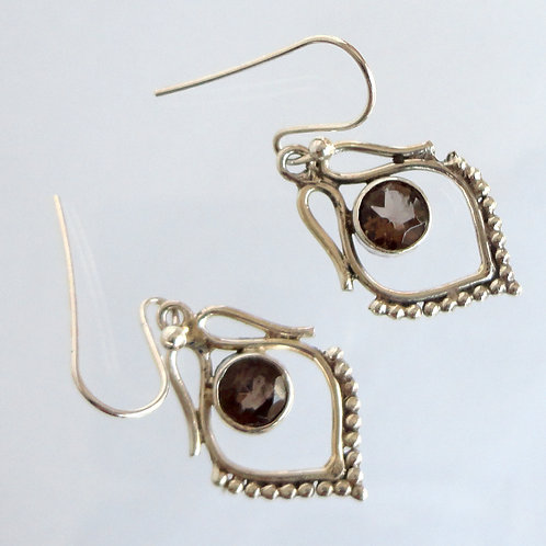 1018 Silver Gemstone Earring