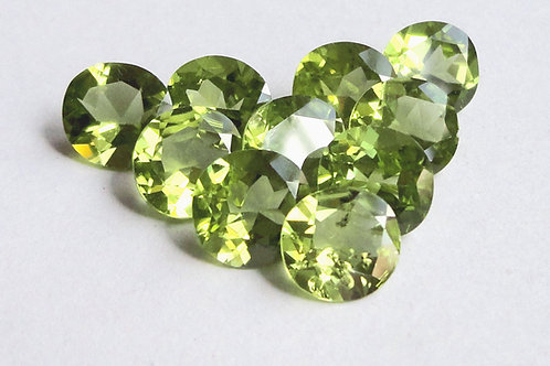 Peridot Round Faceted Calibrated Gemstone