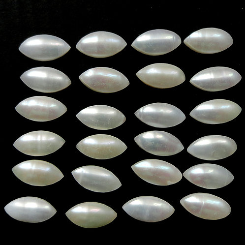 Pearl Cabochon Marquise 6x3mm -12x6 mm