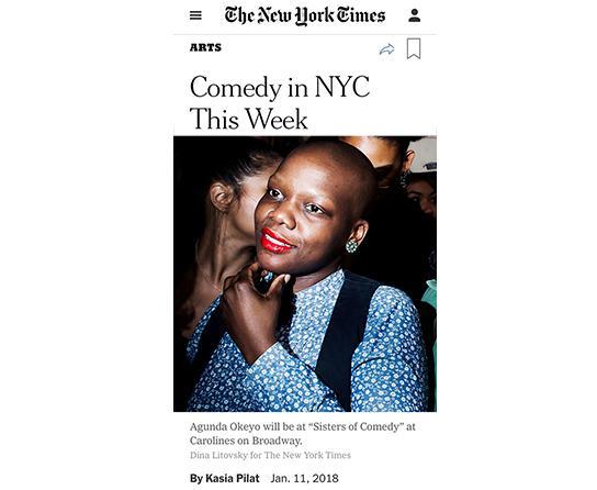 Producer Agunda Okeyo in New York Times
