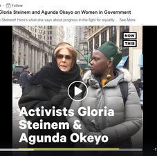 Now This Interview: Activists Gloria Steinem and Agunda Okeyo on Women in Government