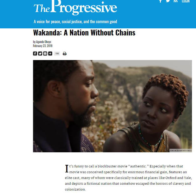 The Progressive OpEd: Wakanda: A Nation Without Chains
