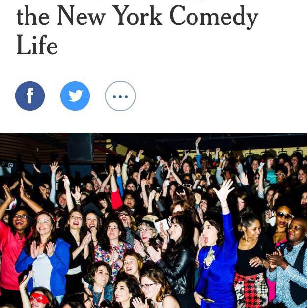 New York Times:  A Roomful of Funny Women, Bonding Ov